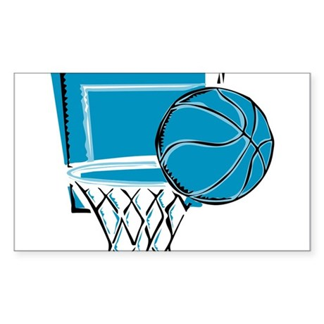 BASKETBALL *52* {blue} Sticker (Rectangle)