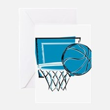 BASKETBALL *52* {blue} Greeting Card