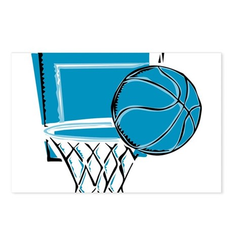 BASKETBALL *52* {blue} Postcards (Package of 8)