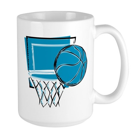 BASKETBALL *52* {blue} Large Mug