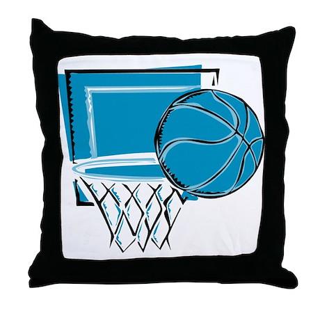 BASKETBALL *52* {blue} Throw Pillow