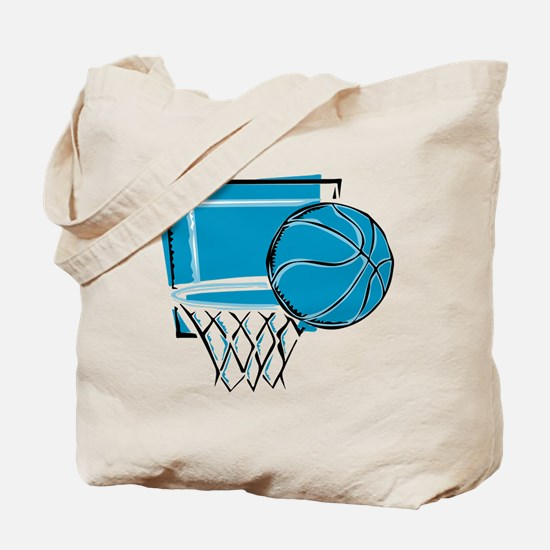 BASKETBALL *52* {blue} Tote Bag