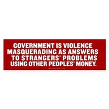 Government in a Nutshell Bumper Sticker