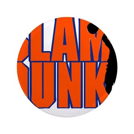 "SLAM DUNK *2* {orange/blue} 3.5"" Button (100 pack)"