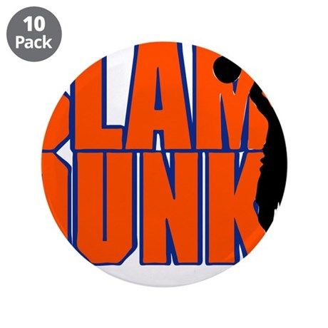 "SLAM DUNK *2* {orange/blue} 3.5"" Button (10 pack)"