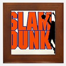 SLAM DUNK *2* {orange/blue} Framed Tile