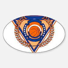 BASKETBALL *54* {orange} Sticker (Oval)