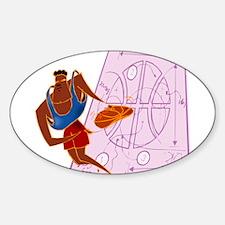 BASKETBALL *59* {red/BLue} Sticker (Oval)