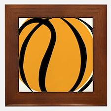 BASKETBALL *60* {yellow} Framed Tile