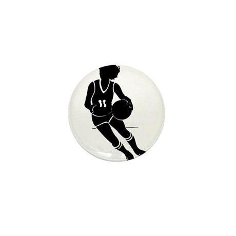 BASKETBALL *61* {black} Mini Button (100 pack)