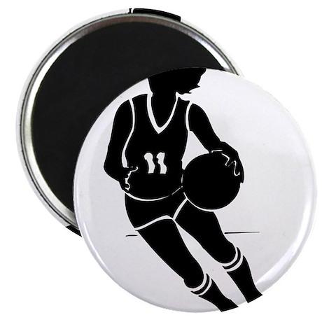 "BASKETBALL *61* {black} 2.25"" Magnet (10 pack)"