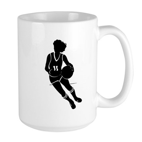 BASKETBALL *61* {black} Large Mug