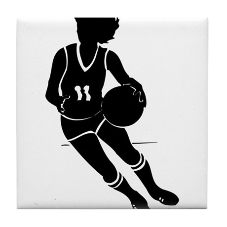 BASKETBALL *61* {black} Tile Coaster
