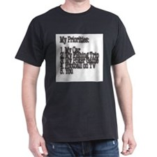 My Priorities Black T-Shirt