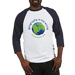 'Geography is my World' Baseball Jersey