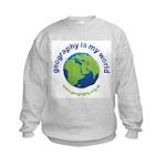 'Geography is my World' Kids Sweatshirt