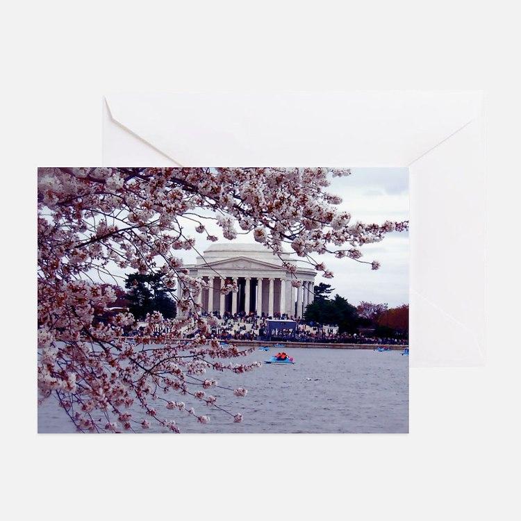 Cherry Blossoms, Washington, Dc Greeting Cards (pk