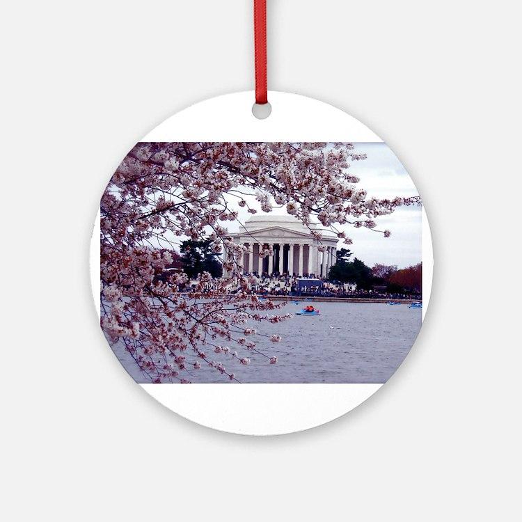 Cherry Blossoms, Washington, DC Ornament (Round)