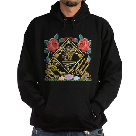Hoodie (dark) with flowers