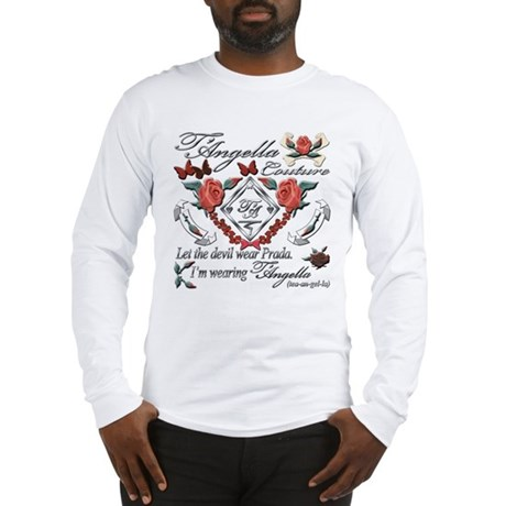 Long Sleeve T-Shirt with red roses and butterflies