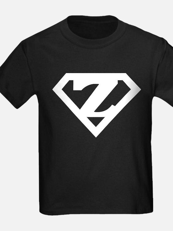 Super White Z Logo T