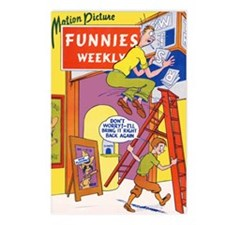 $19.99 Motion Pic Funnies Weekly 1 Postcards (8)