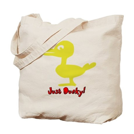 Funny Just Ducky Tote Bag