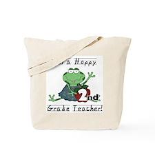 Hoppy 2nd Grade Teacher Tote Bag
