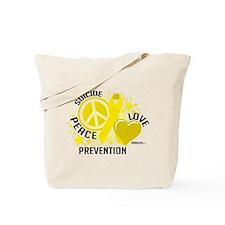 Suicide Peace Love Prevention Tote Bag