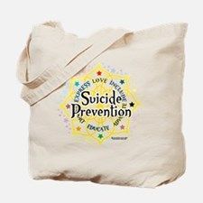 Suicide Prevention Lotus Tote Bag