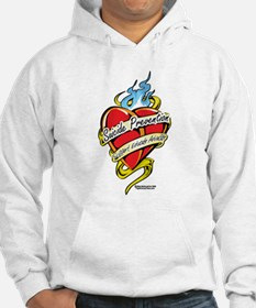 Suicide Prevention Tattoo Hea Hoodie