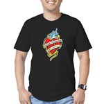 Suicide Prevention Tattoo Hea Men's Fitted T-Shirt