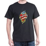 Suicide Prevention Tattoo Hea Dark T-Shirt