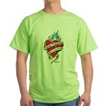 Suicide Prevention Tattoo Hea Green T-Shirt