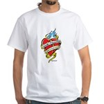 Suicide Prevention Tattoo Hea White T-Shirt