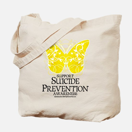 Suicide Prevention Butterfly Tote Bag