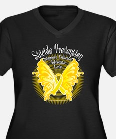 Suicide Prevention Butterfly Women's Plus Size V-N