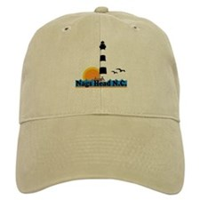 Nags Head NC - Lighthouse Design Baseball Cap