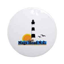 Nags Head NC - Lighthouse Design Ornament (Round)