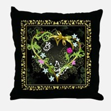 Entwined Hearts Throw Pillow