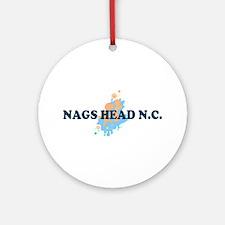 Nags Head NC - Seashells Design Ornament (Round)