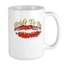 Bride to be with Red Lips Mug
