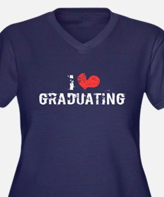 I heart Graduating Women's Plus Size V-Neck Dark T