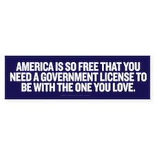 License To Love Bumper Sticker