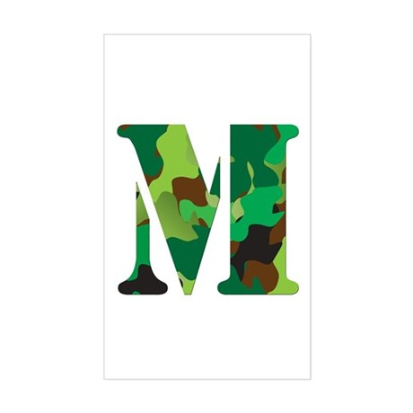 The Letter 'M' Sticker (Rectangle)