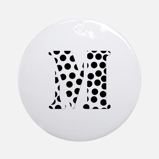 The Letter 'M' Ornament (Round)