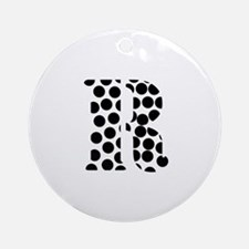 The Letter 'R' Ornament (Round)