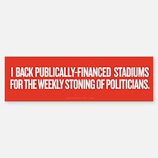 Public Stadiums Bumper Bumper Sticker