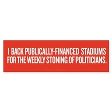 Public Stadiums Bumper Sticker