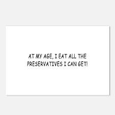 Retirement Preservatives Joke Postcards (Package o